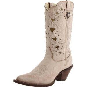 NWT and NIB Durango *Crush* Heart Cut-out Boots